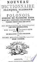 Nouveau dictionnaire françois, allemand et polonois