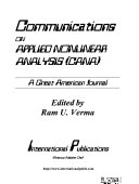 Communications On Applied Nonlinear Analysis book
