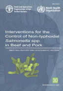 Interventions For The Control Of Non Typhoidal Salmonella Spp In Beef And Pork