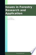 Issues In Forestry Research And Application 2012 Edition