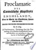 By The King A Proclamation Declaring That The Proceedings Of His Majesties Ecclesiasticall Courts