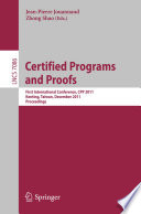 Certified Programs and Proofs