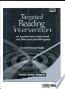 Targeted Reading Intervention