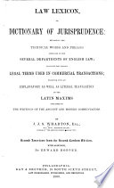 Law lexicon  or  Dictionary of jurisprudence