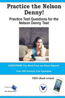Practice the Nelson Denny  Practice Test Questions for the Nelson Denny Test