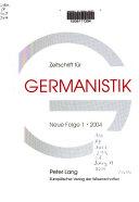 Zeitschrift F R Germanistik