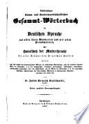 Vollst  ndiges stamm  und sinnverwandtschaftliches gesammt w  rterbuch der deutschen sprache aus allen ihren mundarten und mit allen fremdw  rten