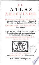 El Atlas abreviado     El nuevo compendio de la geografia universal  politica  historica i curiosa  2