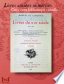 MANUEL DE L AMATEUR DE LIVRES DU XIX  me