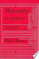 Philosophy in Process