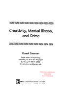 Creativity Mental Illness And Crime