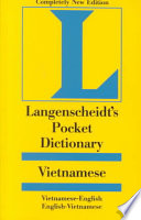 Langenscheidt's Pocket Vietnamese Dictionary