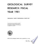 U S  Geological Survey Professional Paper