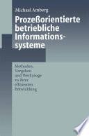 Prozeßorientierte betriebliche Informationssysteme