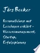 Personalbilanz Mit Lesebogen Erkl Rt Wissensmanagement Startup Erfolgsplanung