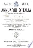 Annuario d Italia amministrativo commerciale