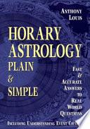 Horary Astrology Plain   Simple