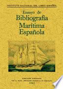 Ensayo de bibliografía marítima española