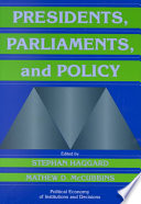 Presidents  Parliaments  and Policy