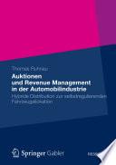 Auktionen und Revenue Management in der Automobilindustrie