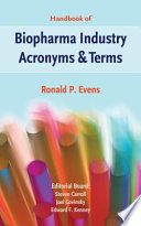 Handbook of Biopharma Industry Acronyms   Terms