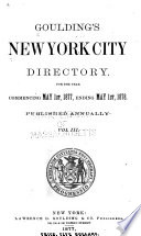 Gouldings New York City Directory