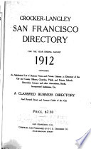 Crocker Langley San Francisco Directory