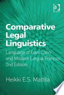 Comparative Legal Linguistics