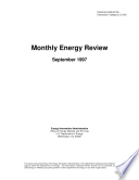 Monthly Energy Review  September 1997