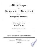 Mittheilungen des Gewerbevereins für das Königreich Hannover