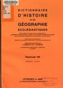 Dictionnaire d histoire et de g  ographie eccl  siastiques