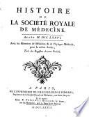 illustration du livre Histoire de la Société Royale de Médecine