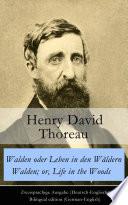 download ebook walden oder leben in den wäldern / walden; or, life in the woods - zweisprachige ausgabe (deutsch-englisch) / bilingual edition (german-english) pdf epub