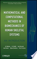 Mathematical and Computational Methods and Algorithms in Biomechanics