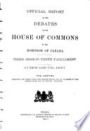 Official Report of the Debates of the House of Commons of the Dominion of Canada