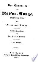 Der Chevalier von Maison Rouge