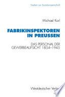 Fabrikinspektoren in Preußen