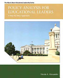 Policy Analysis for Educational Leaders