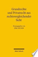 Grundrechte Und Privatrecht Aus Rechtsvergleichender Sicht