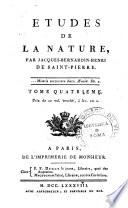 Études de la nature par Jacques-Henri-Bernardin de Saint-Pierre. Tome premier [-quatrieme]