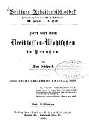 Fort mit dem Dreiklassen-Wahlsystem in Preussen