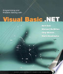 Programming and Problem Solving with Visual Basic  NET