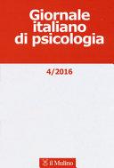 Giornale italiano di psicologia  2016