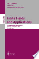 Finite Fields And Applications book