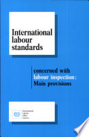 International Labour Standards Concerned with Labour Inspection