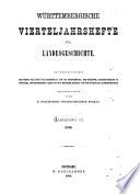 Württembergische Vierteljahrshefte für Landesgeschichte