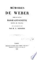 M Moires De Weber Fr Re De Lait De Marie Antoinette Reine De France