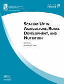 Scaling Up in Agriculture, Rural Development, and Nutrition