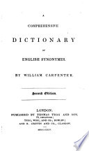 A comprehensive dictionary of English synonymes