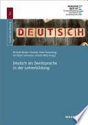 Deutsch als Zweitsprache in der Lehrerbildung